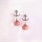 Anchors Away - crystal quartz dangle earrings pink