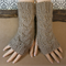 Fingerless Gloves Knitted Cable Chunky Arm Warmers Fingerless Mittens Dark Camel