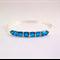 Blue Zircon Swarovski crystal silver bangle