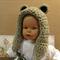 Crochet Bear Hood, Toddler Chunky Wool Hat, Baby Photo Prop, Winter Child Hat
