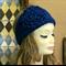 Headband Knit Ear Warmer Navy Chunky Headband Large Crochet Flower Head Wrap