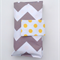 Nappy Diaper Clutch Bag Grey and White Large Chevron with Yellow Spots