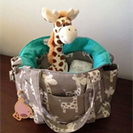 Giraffe Nappy Bag New Large Sizer XL Diaper Bag with Zippered Front Pocket