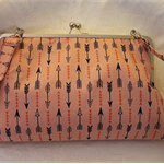 Pink arrow large Handbag with detachable cross body strap