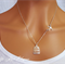 Silver bird with cage necklace sparrow dove swallow elegant and dainty travel