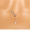 Silver or gold infinity and pearl necklace eternity love eternal bridesmaid gift