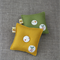 Value gift set of 2, mini pincushions, green, mustard yellow, sewing, craft