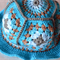 Crochet Granny Square Hat - Adult Size