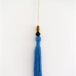 Jumbo Tassel Cornflower Blue + Wooden Beads