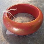 Hand Painted Bangle - Orange & Gold for Children.