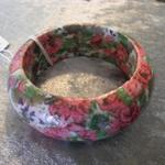 Decoupaged Bangle - Floral for Children.