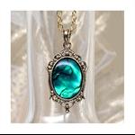 Emerald Paua Shell Pendant