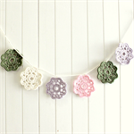 sophie | flower garland | crochet bunting room accessory