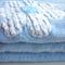 Extra Large Blue Daisy Applique' Fleece Blanket (single layer)