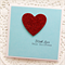 Christmas With Love card red glitter heart - With Love This Christmas