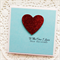 Christmas Love card red glitter heart - To the one l love this Christmas