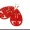 Red Wooden Phoenix Earrings
