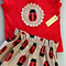 Ladybird Paperbag Skirt and Shirt Set - Red Size 2