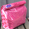 Eco friendly lunch bag, picnic, vinyl, school,spot, bows, food, reusable, work