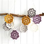marjorie   flower garland   crochet bunting   decoration   mustard purple