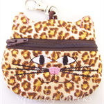 Kitty Coin Purse - Animal Print