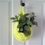 Neon Yellow Hanging Storage Pod/Basket