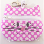 Kitty Coin Purse - Spotty