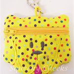 Puppy Coin Purse - Yellow Spotty