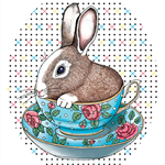 Bunny Teacup - Giclée art print on HAHNEMUHLE photo rag paper
