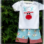 MaisyMoo Designs 'Boys Polar Bear Pants with Fold Up Cuff & Singlet/T-shirt'
