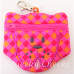 Puppy Coin Purse - Pink & Orange