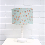 Pastel green, rainbow coloured arrow fabric lampshade