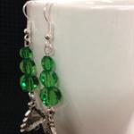 Green x-mas Tree Earrings