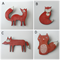 Wooden Fox Brooch - 4 styles available