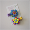Pair of Satin Rainbow Flower Hair Clips - Baby, Toddler, Girl