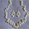 Freshwater Pearl Wedding necklace & matching earrings