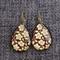 Coco~ Teardrop Lever Back Earrings