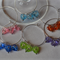 6 Wine Glass Charms - various designs