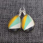 Retrobeam ~ Teardrop Lever Back Earrings