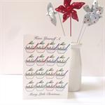 "6 x ""Plum Pudding"" Christmas Cards"
