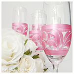 Personalised Bridal Party Champagne Flute Glasses x 4 & Gift Boxes