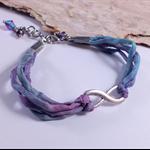 RESERVED FOR MEGAN Infinity Silk Bracelet