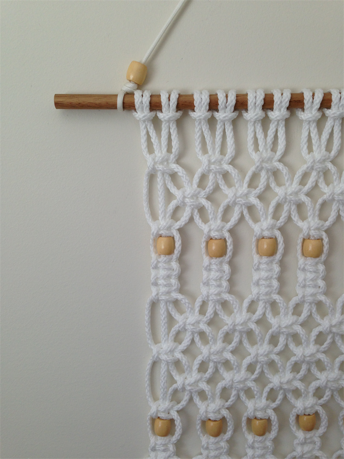 modern macrame wall hanging  knotted rope  wall art  retro  home decor  unique