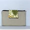 LINEN Wallet Purse, Summer 2015, Natural Linen and clovers with phone sleeve