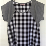 Black/White Check Ladies Top Size 10 and 14