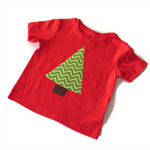 Appliqued Christmas Tree T-shirt