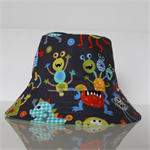 Boys Monster Reversible Bucket Hat - 12-24mths