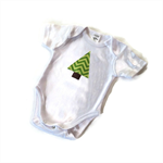 Appliqued Christmas Tree Onsie