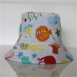 Boys Sea Creature Reversible Bucket Hat - 12-24mths