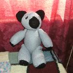 34cm handknitted bear